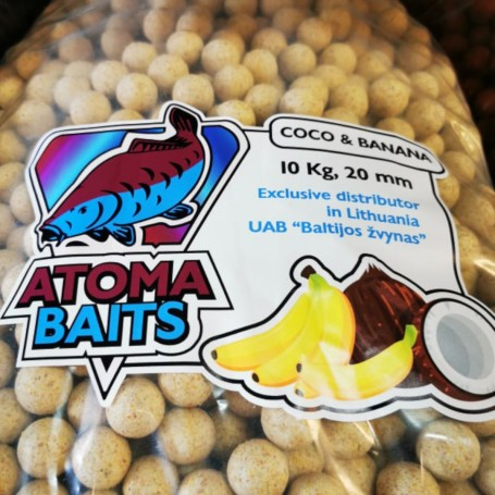 Šeriaminiai boiliai ATOMA BAITS Coco & Banana