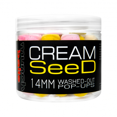 Munch baits Cream seed washed out pop up