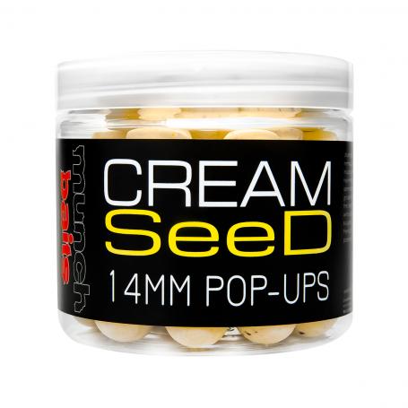 Plaukiantys boiliai Munch baits Cream seed pop ups